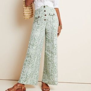 NWT ANTHROPOLOGIE ARBOR WIDE LEG PANTS SIZE M